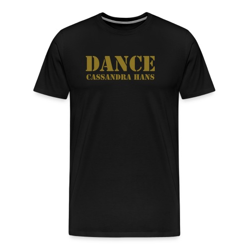 Tshirt Homme Dance noir & doree army  - Men's Premium T-Shirt