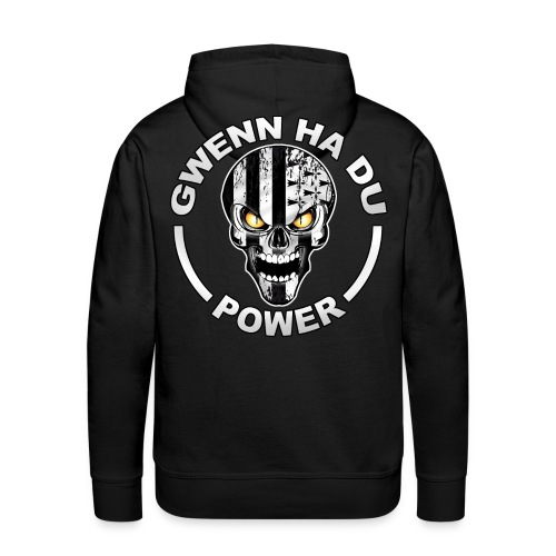 Gwenn Ha Du skull power - Sweat-shirt à capuche Premium pour hommes