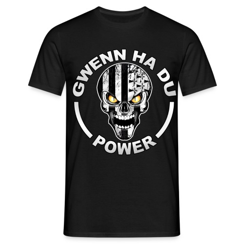 Gwenn Ha Du skull power - T-shirt Homme