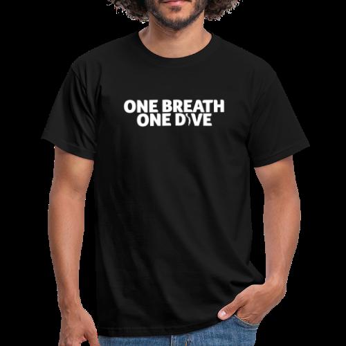 One Breath One Dive Herren - Männer T-Shirt