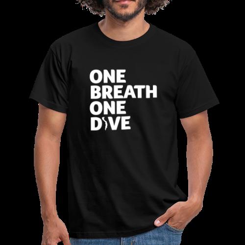 One Breath One Dive II Herren - Männer T-Shirt