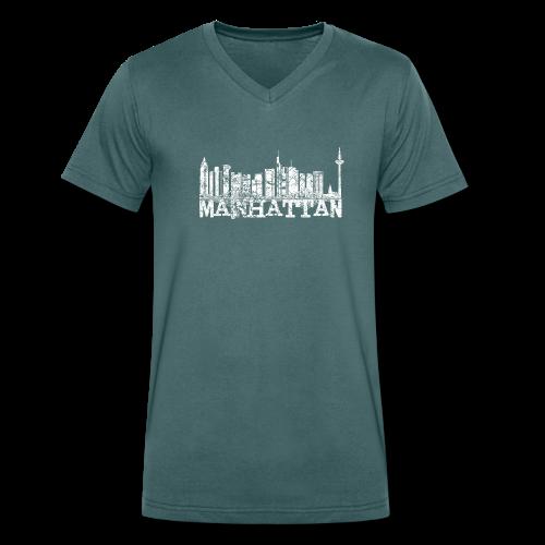 Mainhattan Shirt - Männer Bio-T-Shirt mit V-Ausschnitt von Stanley & Stella