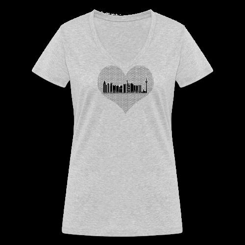 Heartfelt FFM  - Frauen Bio-T-Shirt mit V-Ausschnitt von Stanley & Stella