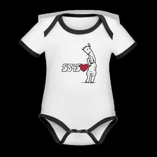 Wittener Böckchen - Baby Bio-Kurzarm-Kontrastbody