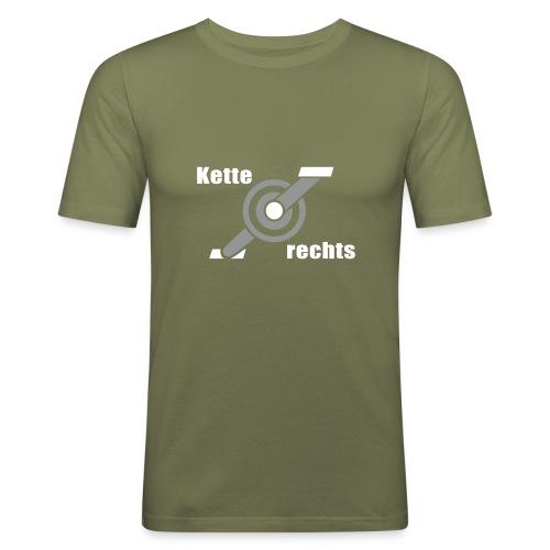 Kurbel - Kette rechts - 2C - Männer Slim Fit T-Shirt