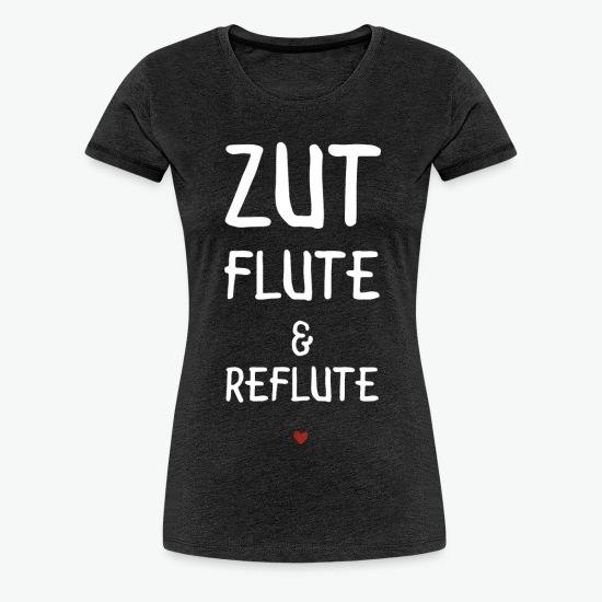 Tee shirt zut flute et reflute charbon par Tshirt Family