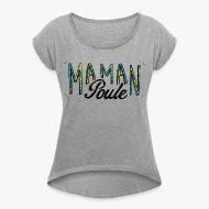 T-shirt Maman poule  gris chiné par Tshirt Family