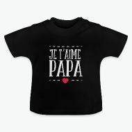 Tee shirt Papa je taime noir par Tshirt Family