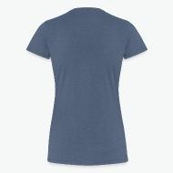 Tee shirt Maman poule et poussins bleu chiné par Tshirt Family