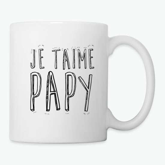Mug je t'aime papy papi blanc par Tshirt Family
