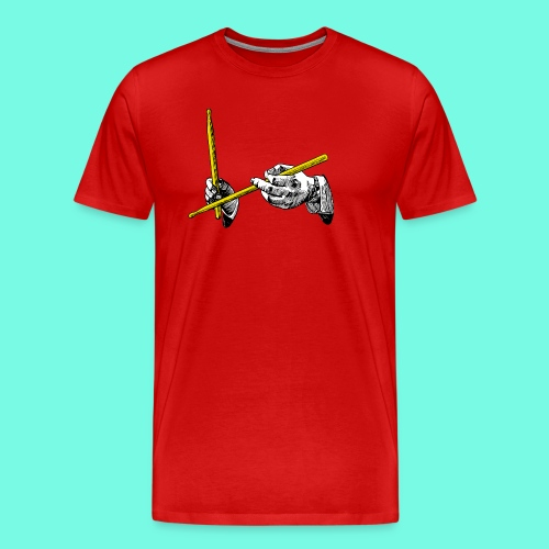 hands & sticks - Männer Premium T-Shirt
