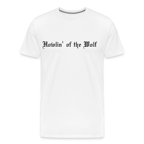 wolf white male t-shirt - Men's Premium T-Shirt