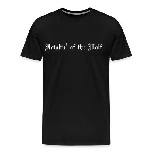 wolf black male t-shirt - Men's Premium T-Shirt