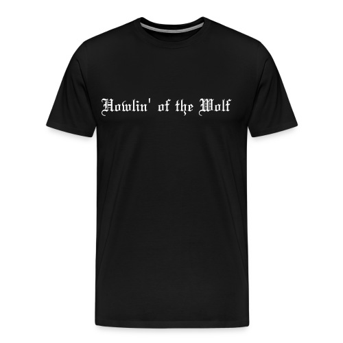wolf black male t-shirt - Men's Premium T-Shirt