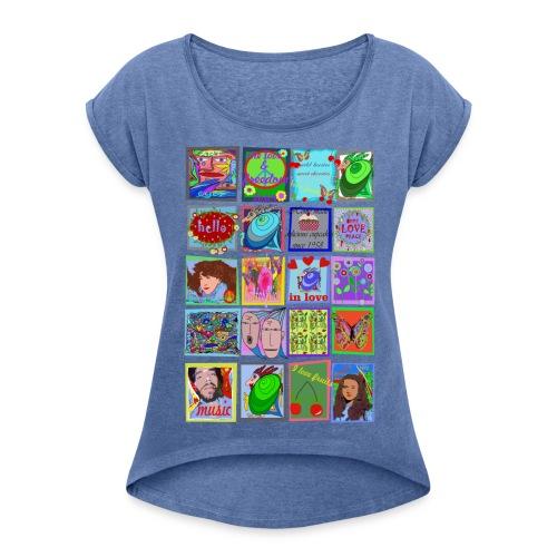 Medley - Frauen T-Shirt mit gerollten Ärmeln
