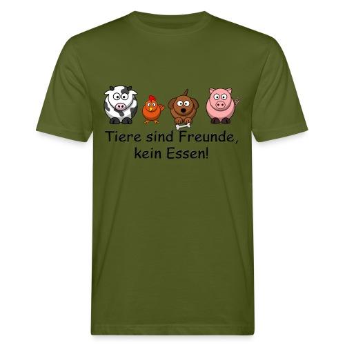 Tiere sind Freunde - Männer Bio-T-Shirt