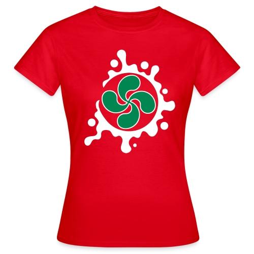 Croix Basque splash - T-shirt Femme
