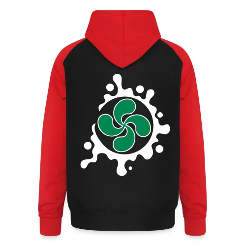 Croix Basque splash - Sweat-shirt baseball unisexe