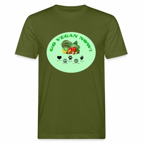 Go vegan now! - Männer Bio-T-Shirt