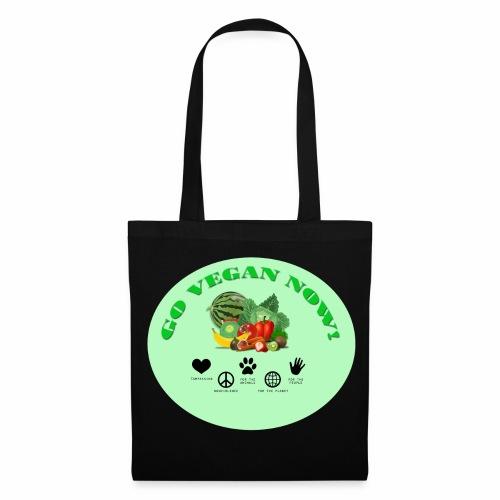 Go vegan now! - Stoffbeutel