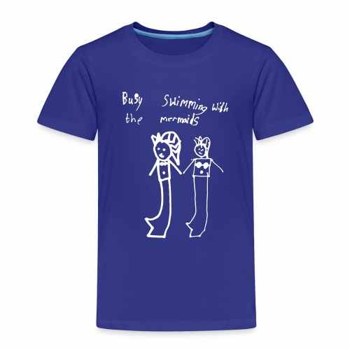 Busy Swimming with the Mermaids - Kids' Premium T-Shirt