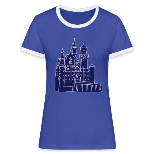 Schloss Neuschwanstein 2 - Frauen Kontrast-T-Shirt