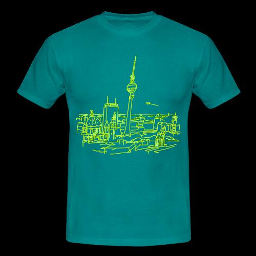 Berlin Panorama - Mannen T-shirt