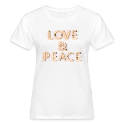 Love And Peace Neon T-Shirts - Frauen Bio-T-Shirt