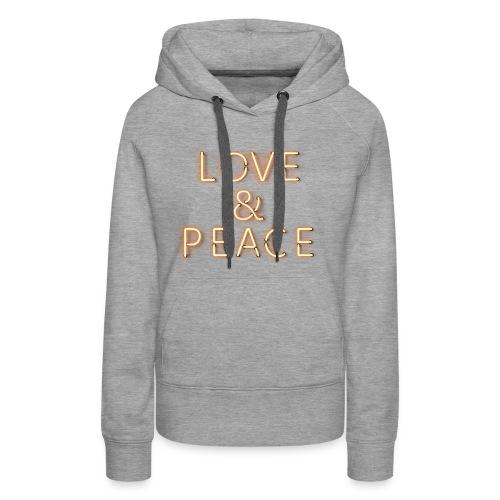 Love And Peace Neon Pullover & Hoodies - Frauen Premium Hoodie
