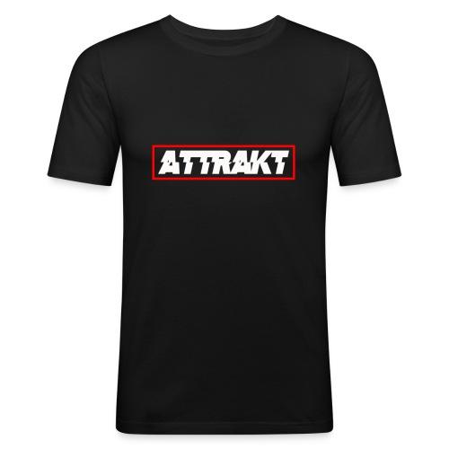 Black Attrakt Box Logo T-Shirt (Slim Fit) - Men's Slim Fit T-Shirt