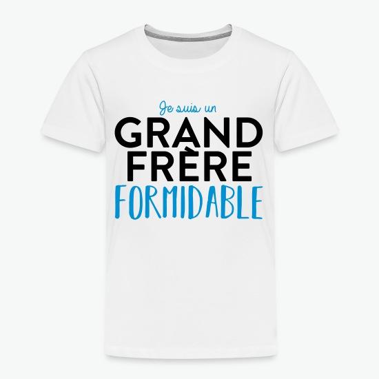 Tee shirt Grand frère formidable blanc par Tshirt Family