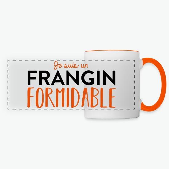 Mug frangin formidable blanc/orange par Tshirt Family