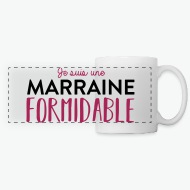 Mug Marraine formidable blanc par Tshirt Family