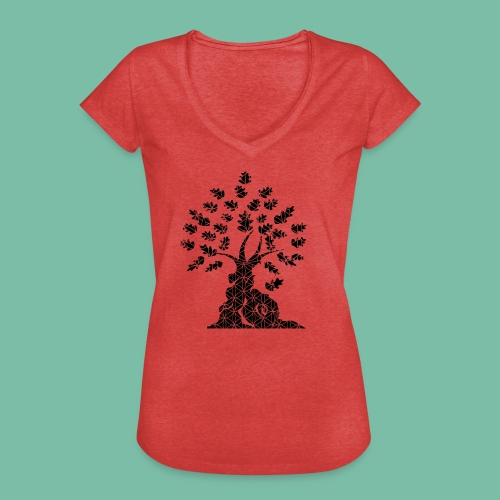 tshirt femme vintage chêne vie - T-shirt vintage Femme