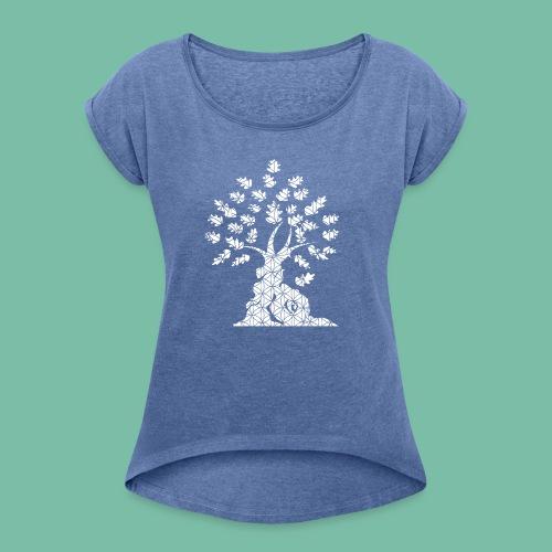 Tshirt Femme chêne vie - T-shirt à manches retroussées Femme