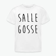 T-shirt Salle gosse, mauvais garcon blanc par Tshirt Family