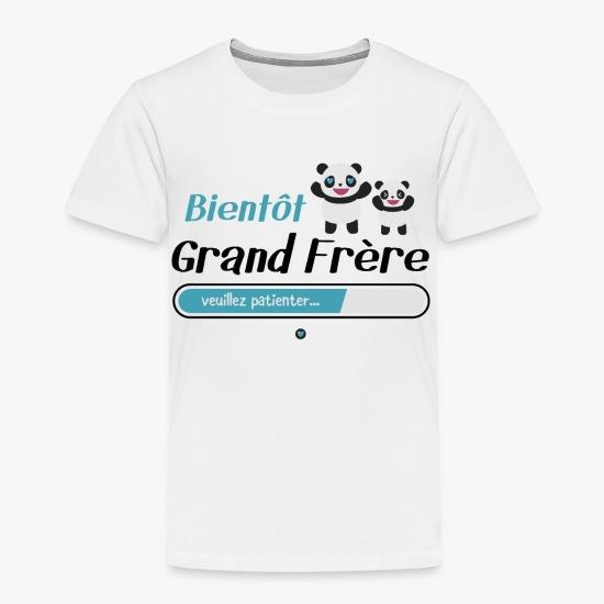 Tee shirt Bientôt grand frère blanc par Tshirt Family