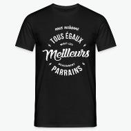 T-shirt Les meilleures deviennent Parrains noir par Tshirt Family