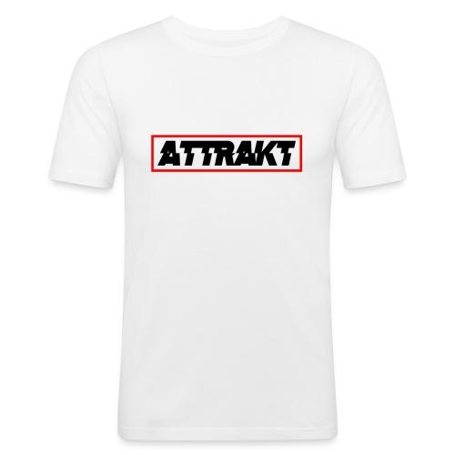 White Attrakt Box Logo T-Shirt (Slim Fit) - Men's Slim Fit T-Shirt