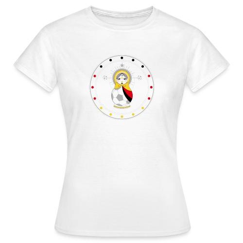 Fußball Matroschka - Frauen T-Shirt