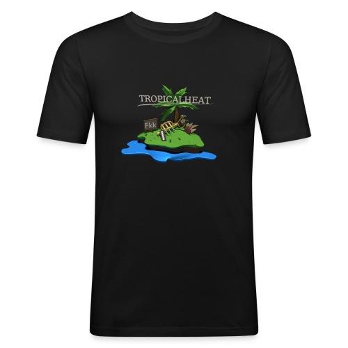 Tropicalheat Logo Slim Fit - Männer Slim Fit T-Shirt