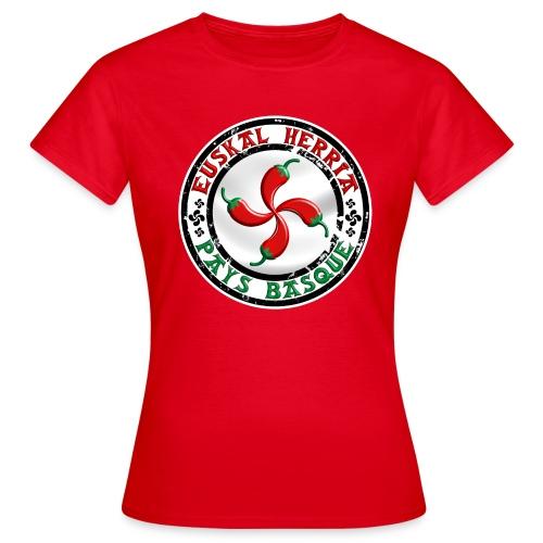 Ezpeleta (Espelette) Pays Basque - T-shirt Femme