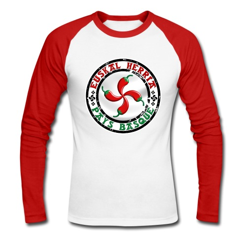 Ezpeleta (Espelette) Pays Basque - T-shirt baseball manches longues Homme