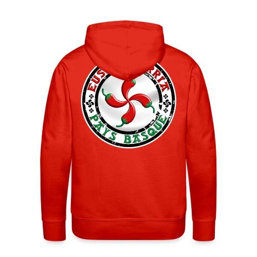 Ezpeleta (Espelette) Pays Basque - Sweat-shirt à capuche Premium pour hommes