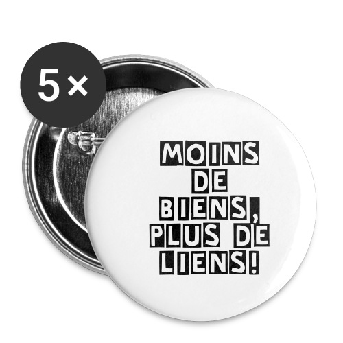 Moins de Liens Badges - Badge grand 56 mm