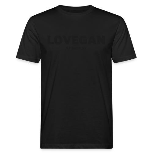 LOVEGAN front mens BIO t-shirt glitter black simple - Men's Organic T-Shirt