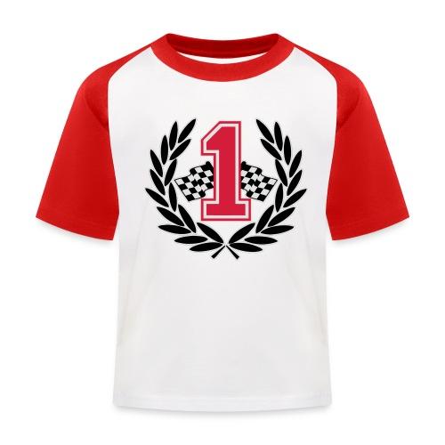 Racing team number one - Kids' Baseball T-Shirt