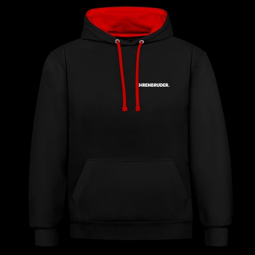 Ehrenbruder Premium Hodie Black/Red/White - Kontrast-Hoodie
