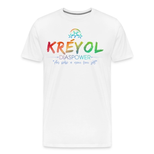 Kreyol Diaspower Tshirt Blanc - T-shirt Premium Homme
