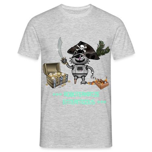 Roboterkatze Pirat - Männer T-Shirt